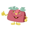 purse showing thumbs up vector image