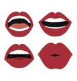set lips female d icons vector image