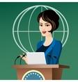 Woman Politician vector image