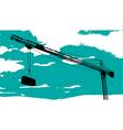 Tower crane sketch vector image