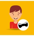 young boy fathers day celebration bow tie vector image