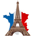 paris eiffel tower vector image vector image