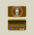 front and back coffee shop member card template vector image