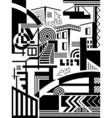 town abstract vector image