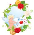 angel letter 380 vector image