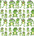 Seamless frog vector image
