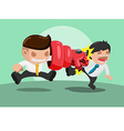 Man iron punch Attack Strong vector image