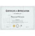 Certificate Appreciation Wood texture vector image