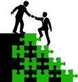 Business people partner help find solution vector image