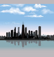 chicago city view urban landscape travel usa vector image
