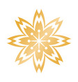 golden flower chinese decoration symbol vector image