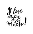 i love you so much - happy valentines day card vector image