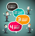 Paper Infographic Layout with Business People vector image
