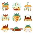 Ramadan Label Set vector image