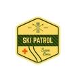 Ski Patrol Label Vintage Mountain winter sports vector image