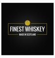 whiskey quality logo design background vector image