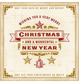Vintage Christmas Typography vector image vector image