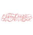 merry christmas 2018 calligraphy inscription vector image