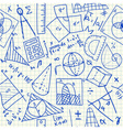 Mathematical doodles seamless pattern vector image vector image