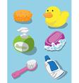 Bath kit vector image