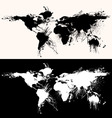 world map grunge vector image vector image