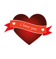 Heart with ribbon isolated object vector image