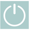 button turn on or off icon vector image