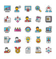 human resource icons set 1 vector image