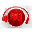 icon 911 vector image