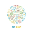 Pet shops veterinary clinics and homeless animals vector image