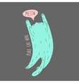 Place cat here vector image