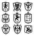 Royal shields nobility heraldry coat of arms vector image