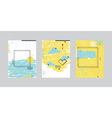 Set of cards with abstract geometric design vector image