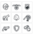Set of Street Police Icons vector image