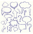 The cloud of thoughts conversation in the comics vector image