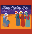 three kings of orient on a white background vector image