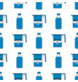 water purification seamless pattern background vector image