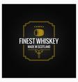 whiskey logo dark label design background vector image