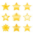 Golden Stars Icons vector image vector image