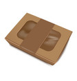 empty brown paper food container with label vector image