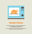Roasted Chicken In Oven vector image