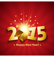 Happy New Year 2015 open magic gift greeting card vector image