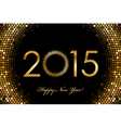 - 2015 Happy New Year glowing background vector image