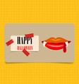 Happy Halloween design background Cute note paper vector image vector image