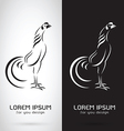 image of an rooster design vector image
