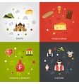 Switzerland flat set vector image