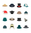 Icons hats vector image
