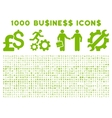1000 Flat Business Icons vector image
