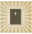 Bible old background vector image