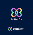 butterfly love logo dating website vector image
